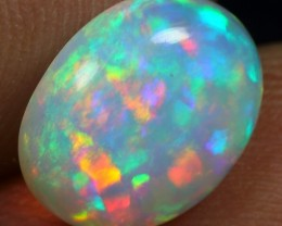 Free Shipping 2.40cts Top 5/5 Rainbow Painting Pattern Ethiopian Opal