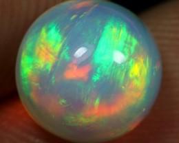 Free Shipping 2.30cts 5/5 Brush Rainbow Fire Ethiopian Opal