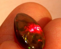 3.00 Crt Natural Fire Ethiopian Black Smoked Opal Cabochon 1023