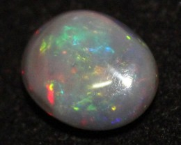 10.45 Crt Natural Fire Ethiopian Black Smoked Opal Cabochon 1031