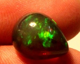 4.55 Crt Natural Fire Ethiopian Black Smoked Opal Cabochon 1032