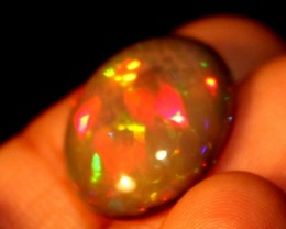 7.00 Crt Natural Fire Ethiopian Smoked Opal Cabochon 1050