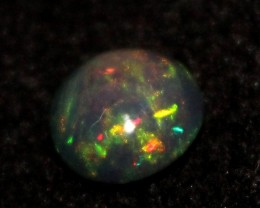 1.75 Crt Natural Fire Ethiopian Black Smoked Opal Cabochon 1077