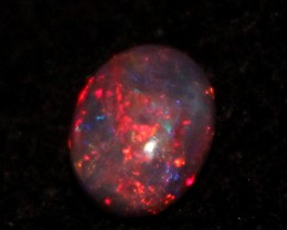 0.85 Crt Natural Fire Ethiopian Black Smoked Opal Cabochon 1094