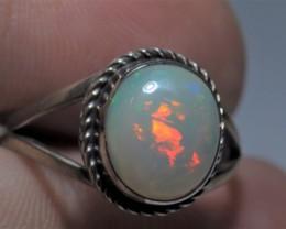 Sz 8 Natural Ethiopian Opal .925 Silver