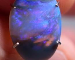 fantastic dark based coober pedy jelly opal