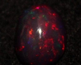 4.70 Crt Natural Fire Ethiopian Black Smoked Opal Cabochon 1133
