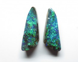 11.00ct Queensland Boulder Opal Split Pair Stone