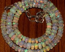77 Crts Natural Ethiopian Welo Fire Opal Beads  0001