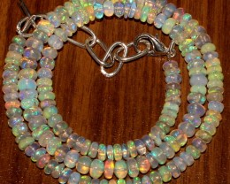 50 Crts Natural Ethiopian Welo Fire Opal Beads  0005