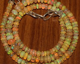 62 Crts Natural Ethiopian Welo Fire Opal Beads  0006