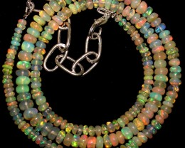 41 Crts Natural Ethiopian Welo Fire Opal Beads  0009