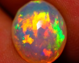2.55 CT One of a Kind !!! Natural Double Sided Faceted Cut Ethiopian Opal