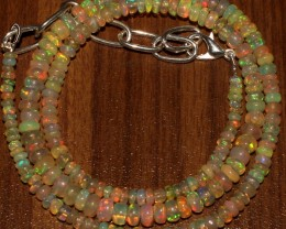 40 Crts Natural Ethiopian Welo Fire Opal Beads  0015