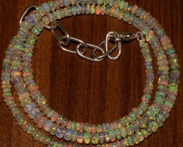 32 Crts Natural Ethiopian Welo Fire Opal Beads  0019