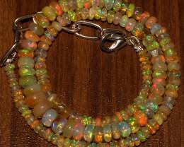 45 Crts Natural Ethiopian Welo Fire Opal Beads  0022