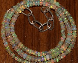 32 Crts Natural Ethiopian Welo Fire Opal Beads  0023