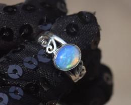 ETHIOPIAN OPAL RING 925 STERLING SILVER JE1048