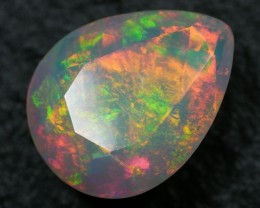 3.16 ct Very Bright Faceted Welo Opal - Free Insured Shipping