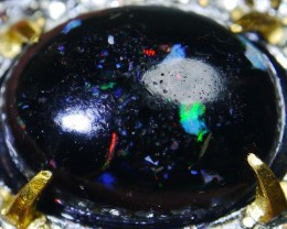 61.65 CT Beautiful Indonesian Rainbow Opal Ring Jewelry