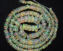 27.15 Ct Natural Ethiopian Welo Opal Beads Play Of Color
