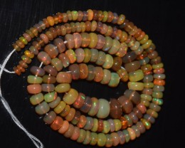 44.10 Ct Natural Ethiopian Welo Opal Beads Play Of Color