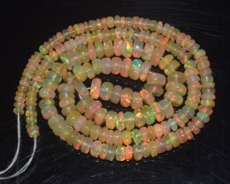 34.40 Ct Natural Ethiopian Welo Opal Beads Play Of Color