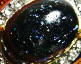 Indonesian Wood Fossil Opal Ring Jewelry 70.50 CT