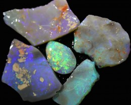 263.40 CTS  MINE ROUGH OPAL SEAM LIGHTNING RIDGE[BR6662]
