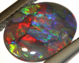 N2- 1.92CTS QUALITY BLACK SOLID OPAL DOUBLESIDED INV-861 GC