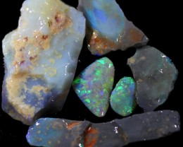 232.45 CTS  MINE ROUGH OPAL SEAM LIGHTNING RIDGE[BR6672]