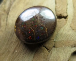 O/L 31cts. BOULDER MATRIX OPAL~MULTI COLOUR GEM.