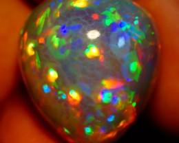 32.84 CT ONE OFTHE BEST ! MULTI RAINBOW FLASHY 3D HONEY COMB PATTERN OPAL-J