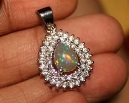 Natural Ethiopian Welo Fire Opal Loose Gemstone Pendant 04