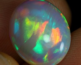 12.12 SUPER DEAL - 4.70cts 2 Sided 5/5 Rainbow Fire Ethiopian Opal