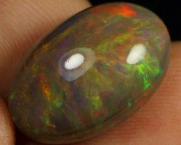11.50cts Brown Based Broad Flash Neon Fire Ethiopian Opal
