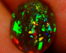 2.58 CT PINFIRE !!Natural Double Sided Faceted Cut Ethiopian Opal