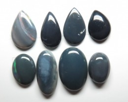 17.45ct 8 Stone Lightning Ridge Black Opal Parcel