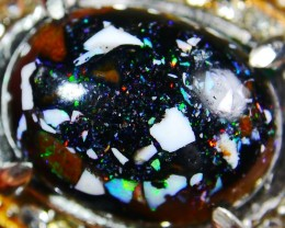 58.50 CT Beautiful Indonesian Rainbow Opal Ring Jewelry