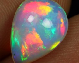 2.50cts Strong Broad Rainbow Fire Natural Ethiopian Welo Opal