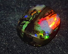 3.00 CRT WONDERFUL NEON FLASH FIRE COLOR POLISHED INDONESIAN OPAL WOOD FOSS