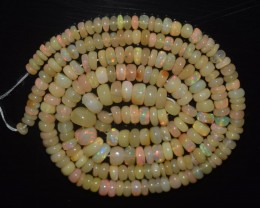 41.20 Ct Natural Ethiopian Welo Opal Beads Play Of Color