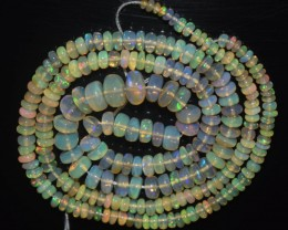 40.00 Ct Natural Ethiopian Welo Opal Beads Play Of Color