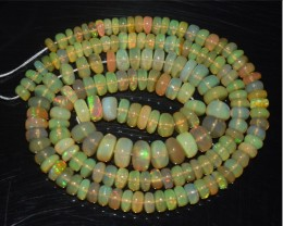 58.80 Ct Natural Ethiopian Welo Opal Beads Play Of Color