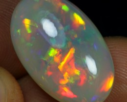 14.75cts Strong Broad Neon Fire Natural Ethiopian Welo Opal