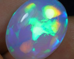 13.40cts Rainbow Cloud Pattern Natural Ethiopian Welo Opal
