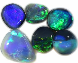 9.75 CTS BLACK OPAL RUBS PARCEL LIGHTNING RIDGE [BR6688]