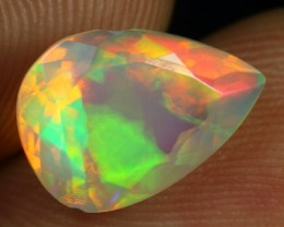 Faceted 2.30cts 5/5 Neon Fire Natural Ethiopian Welo Opal