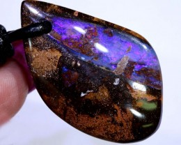 46CTS BOULDER OPAL PENDANT DRILLED NC-5686