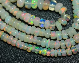 24.20 CRT BEAUTY OPAL BEADS STRANDS FULL COLOR WELO OPAL-